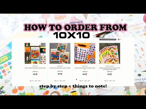 how to make international order on 10X10 website // step by step guide!