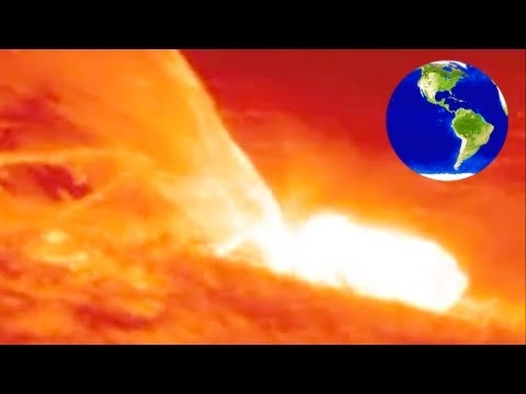 Solar eruptions are insanely huge! See how big here!_Best sun videos ever