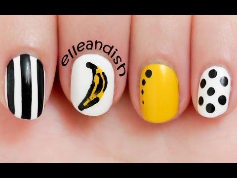 nail art - andy warhol - banana