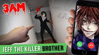 CALLING HOMICIDAL LIU ON FACETIME AT 3 AM!! (JEFF THE KILLER'S BROTHER)