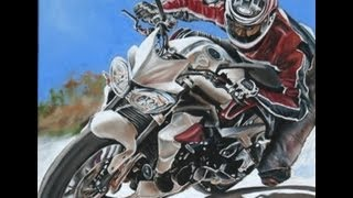 Triumph 675 Street Triple R Time Lapse Speed painting