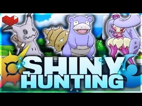 Shiny hunting pokemon in pokemon sun and moon