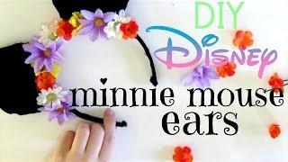 DIY Disney | Minnie Mouse Ears - YouTube