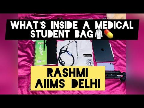 What's inside a Medical Student Bag, #Aiimsonians , Rashmi AIIMS Delhi