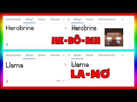 Khi Chị Google Đọc Tên Các Con Mob Trong Minecraft Cực Bựa !! - Max Hài