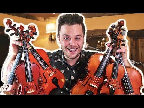 PLAYING ONE SONG ON 6 SMALL VIOLINS - \