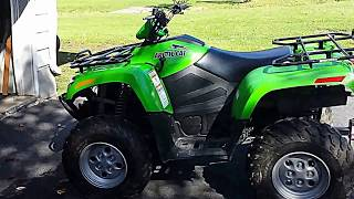 8. 2008 Arctic-Cat 650 H1 4x4 ATV Review & Quick Test Run