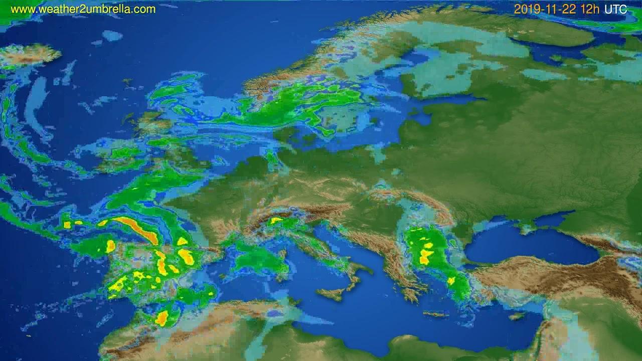 Radar forecast Europe // modelrun: 00h UTC 2019-11-22
