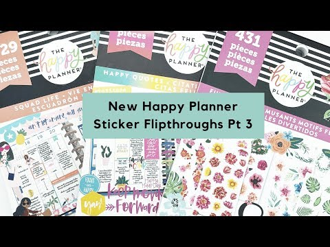 Happy quotes - New Spring 2019 Happy Planner Value Pack Sticker Flip Throughs! Part 3