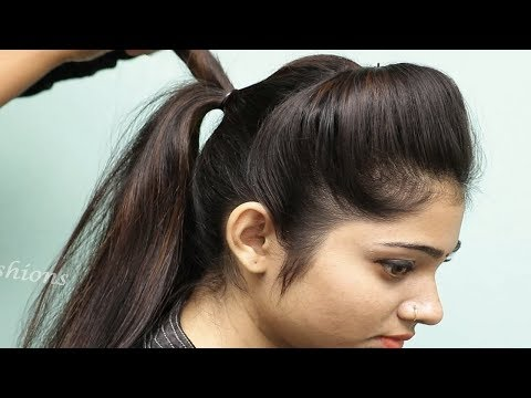 New hairstyle - Easy Puff hairstyles for girls  Hairstyle for medium hair  New Puff hairstyle for wedding/party