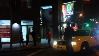 April 18, 2015, 1:58am, St. Marks Place in the East Village, NYC. No idea, two men get involved in an altercation, an unmarked police car pulls over, but the...