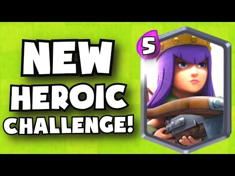 OMG!! NEW ARCHER QUEEN CHALLENGE?! CHAIN TESLA?! Clash Royale NEW 2017 ...