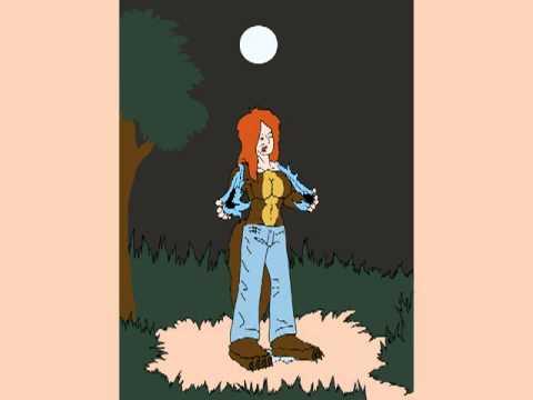 Female Werewolf Under The Moon