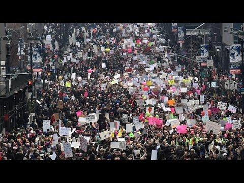 Ουάσινγκτον: Κοσμοσυρροή στις «Πορείες Γυναικών» κατά της ατζέντας Τραμπ