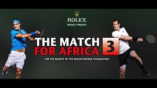 April 10, 2017 an amazing crowd in the Hallenstadion in Zurich received Roger Federer and Andy Murray for the third Match for Africa for the benefit of children's ...