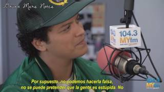 BRUNO MARS EN 104.3 MYFM | SUB ESPAÑOL |  20/10/16