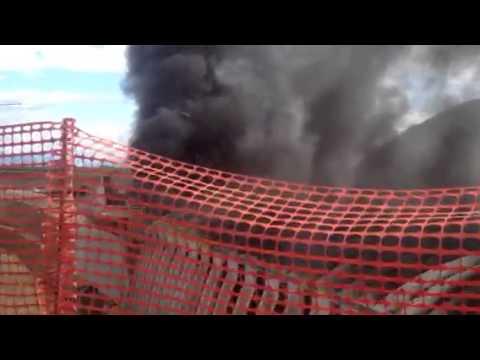 Brucia la galleria di Pedemontana