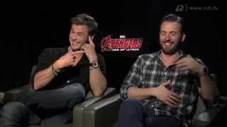 Video Interview With Chris Hemsworth & Chris Evans - Avenger Age of Ultron MP3, 3GP, MP4, WEBM, AVI, FLV November 2018