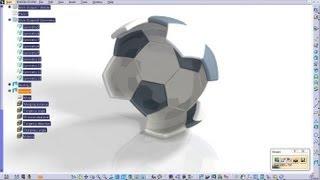 Catia V5 Tutorial Generative Shape Design How to create a Soccer Ball Start to Finish Part 4