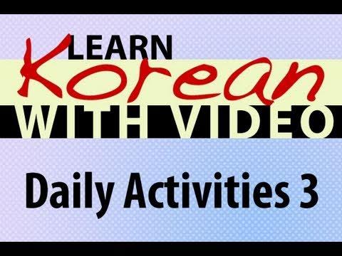 Alltag - Koreanische Vokabeln