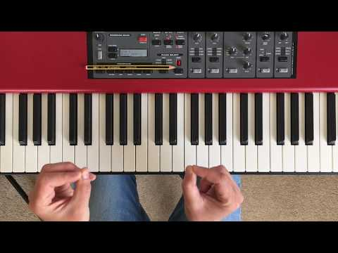 Play a ballad-style piano improvisation using a simple chord progression