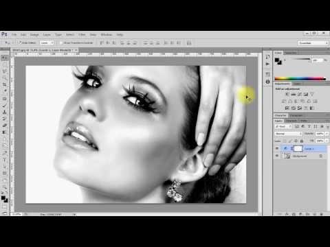 Как сделать фотография черно белой в фотошопе