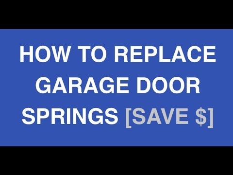 how to adjust springs on a garage door