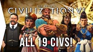 Video Civilization VI ► ALL 19 Civilizations - Overview & Strategies in Civ 6! MP3, 3GP, MP4, WEBM, AVI, FLV Januari 2018