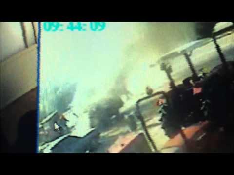 Milas'ta yangın sonrası kaza meydana geldi