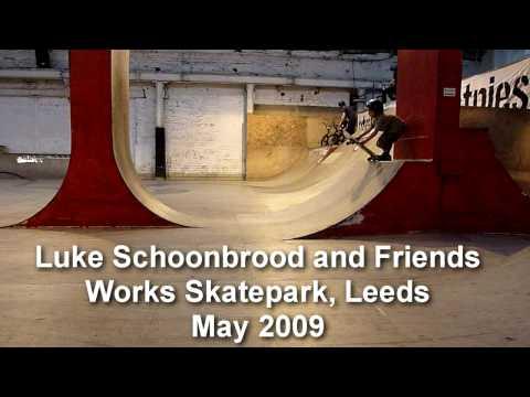 6 year old skateboarding, Luke Schoonbrood and friends at the Works Skatepark