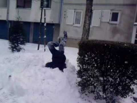 Snow jump funny