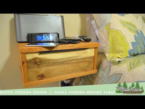 Rustic Modern Design // A Simple Floating Bedside Table