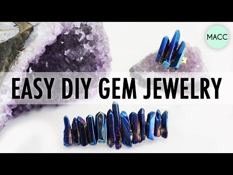 Easy DIY Gem Jewelry Accessories