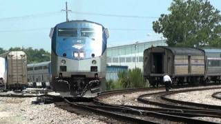 Video Amtrak P098 switches and rotates power at Sanford on 6-13-11. MP3, 3GP, MP4, WEBM, AVI, FLV Agustus 2019