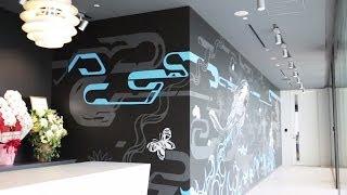 未来のクリエイティブオフィスはここまでやる!社内の壁にストリートアートが出現。