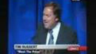 Tim Russert Challenges Journalists