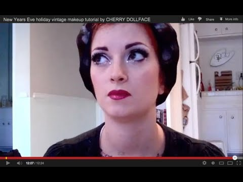 cherry dollface - Here is a pretty look that is perfect for holiday/ New Years Eve parties-- or just fancy occasions in general! Sorry about the sniffles-- tis the season for ...