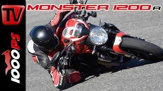 8. Ducati Monster 1200 R Test 2016 | Fazit, Action, Fahrverhalten (English Subs)