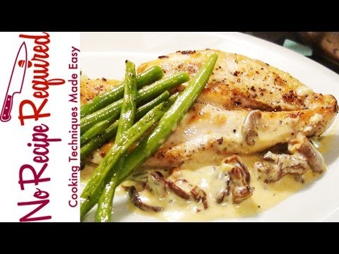 Chicken Breast with Mushroom Cream Sauce – NoRecipeRequired.com