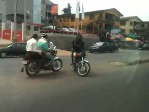 driving through mokola,Oremeji,Cocacola & turning into Bodija