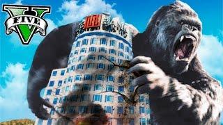 KING KONG EN GTA !! CAOS EN LOS SANTOS GTA V MOD PC Makiman