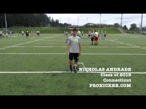 Nicholas Andrade, Prokicker.com Kicker, Class of 2019