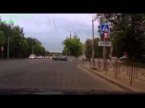 Авария с мотоциклистом в Смоленске