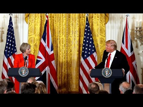 Η κοινή συνέντευξη Τύπου Ντ. Τραμπ – Τερέζα Μέι από την Ουάσινγκτον. Απευθείας από το euronews…
