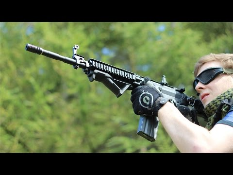 Magpul - Airsoft guns in action. 1 of over 400 airsoft war videos at http://www.youtube.com/scoutthedoggie Filmed by the No1 YouTube video maker in Scotland, over 120...