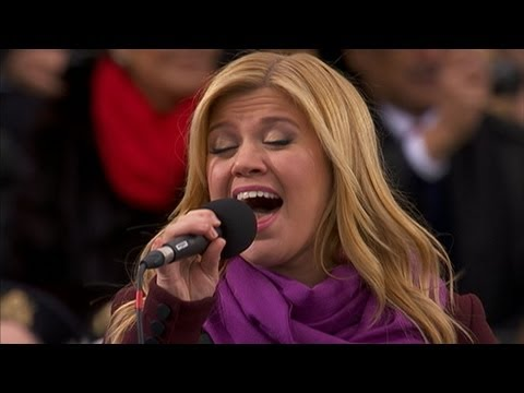 Kelly Clarkson - Singer and former supporter of Ron Paul performs at the inaugural ceremony.