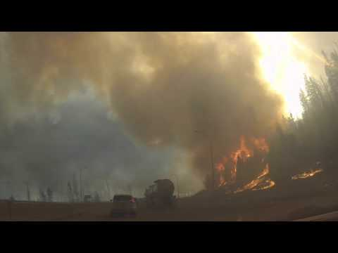 Escape from Fort McMurray Wildfire