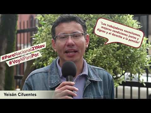 Jeison Cifuentes va al #ParoNacional21N