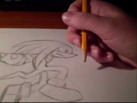 how to draw knuckles the echidna step by step