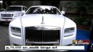 Rolls Royce goes on rental rides in Chennai